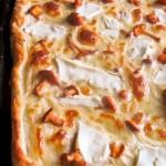 Pizza na cienkim cieście z kurkami