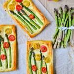 Tarta ze szparagami i pomidorami (tarta z warzywami)