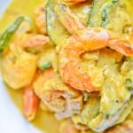 Krewetki w żółtym curry
